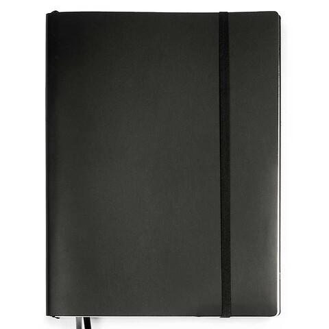 Whitebook Notes Leder Calf XL 23x31cm schwarz