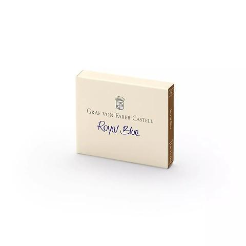 Graf von Faber-Castell Patronen 6er Royalblau löschbar