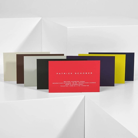 Bethge Visitenkarten-Set Colour mit individueller Bedruckung
