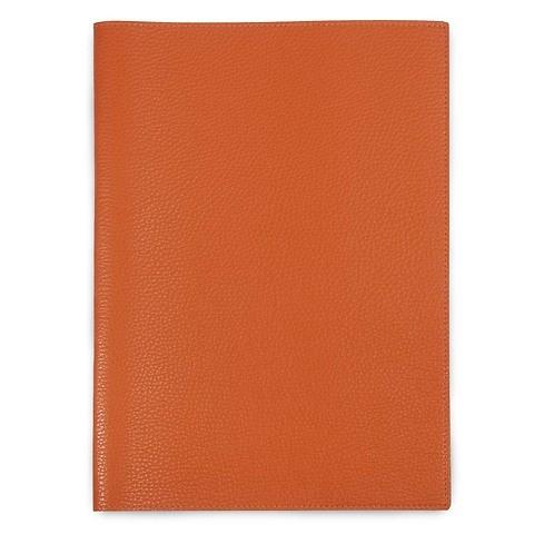 Buchhülle für DIN A4 Bücher Leder Lux orange