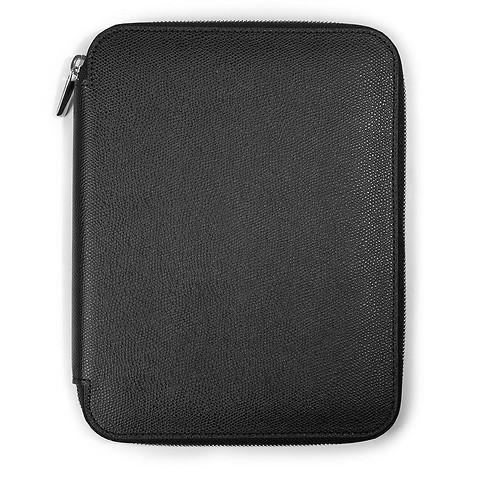 Schreibmappe A4 Zip, Leder; schwarz