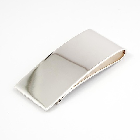 Geldclip Sterlingsilber gebogen, 2,3x5,5 cm
