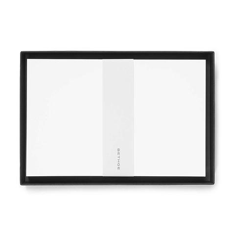50 Briefkarten Diplomat Smooth white