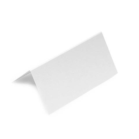 10 Tischkarten weiß BlancBlanc offen 9x9 cm / 9x4,5 cm