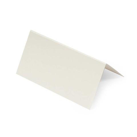10 Tischkarten Opal ecru 9x9 cm / 9x4,5 cm