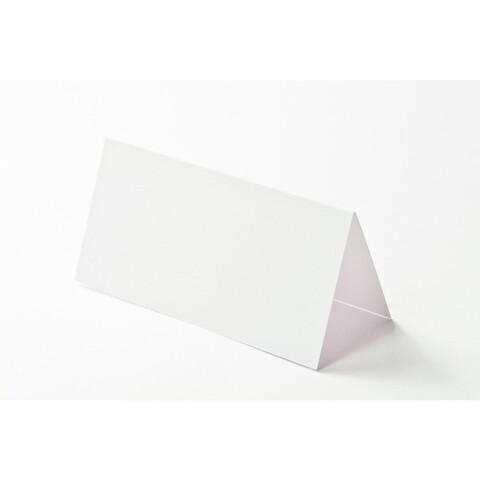 10 Tischkarten Smooth white 9x9 cm / 9x4,5 cm