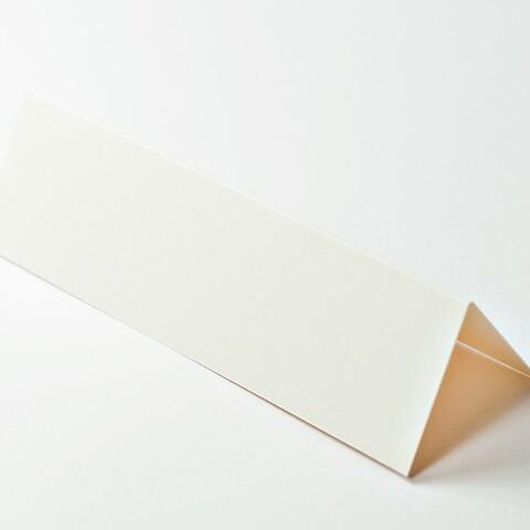 10 Tischkarten Lang Smooth ivory 14x8 cm / 14x4 cm