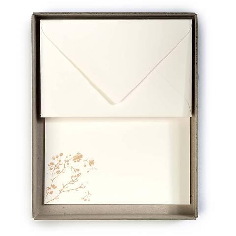 10 Briefbogen Kirschblüte Mini BlancBlanc 10 Umschläge