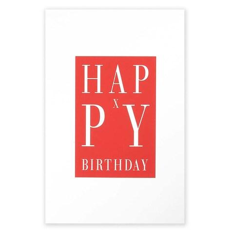 Grußkarte Geburtstag Happy X-Birthday rot Diplomat
