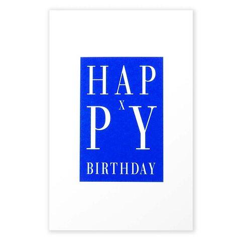 Grußkarte Geburtstag Happy X-Birthday blau Diplomat