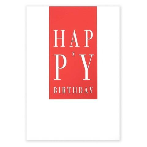 Grußkarte Geburtstag Happy X-Birthday rot A5