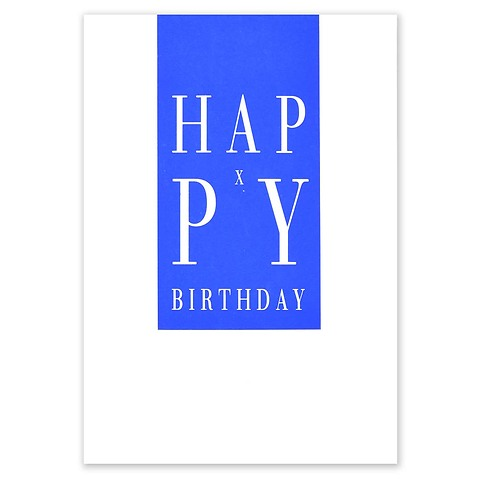 Grußkarte Geburtstag Happy X-Birthday blau A5