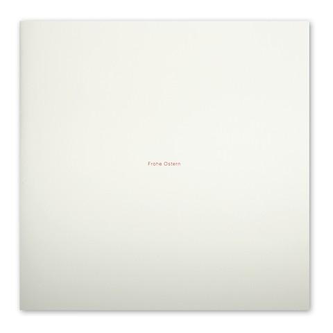 Grußkarte 'Frohe Ostern' Helvetica quadratisch