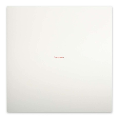 Grußkarte 'Gutschein' Helvetica quadratisch