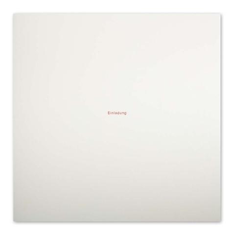 Grußkarte 'Einladung' Helvetica quadratisch