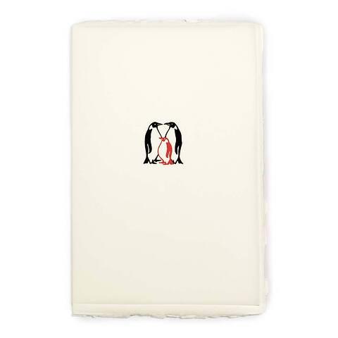 Grußkarte Pinguin Baby Büttengruß Diplomat