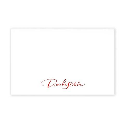 Grußkarte Dankeschön Kalligraphie Diplomat