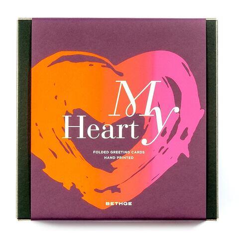 Giftbox My Heart mit 8 Klappkarten + Umschläge