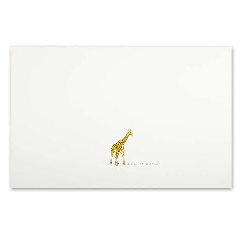 Grußkarte Giraffe 'Hals- und Beinbruch' Diplomat
