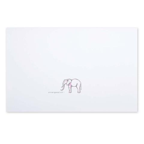 Grußkarte Elefant 'unvergesslich' Diplomat