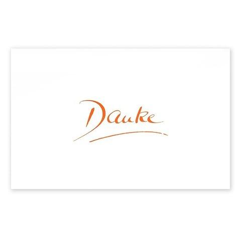 Grußkarte Danke Kalligraphie Diplomat smooth white orange
