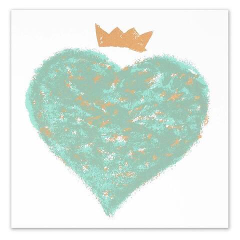 Grußkarte Queen of hearts quadratisch