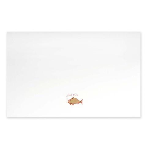 Grußkarte Fisch 'ohne Worte' Diplomat