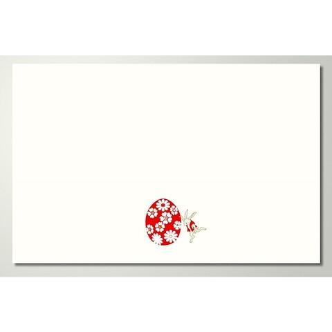 Grußkarte Primelhase Diplomat