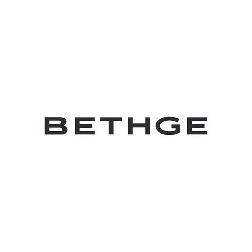 Grußkarte Rahmen blau Mini mit Facettenprägung