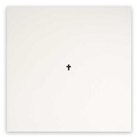 Kondolenzkarte Kreuz schwarz Helvetica quadratisch