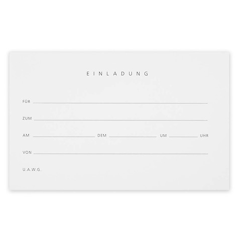 Grußkarte 'Einladung' Invitiation Set BlancBlanc Diplomat