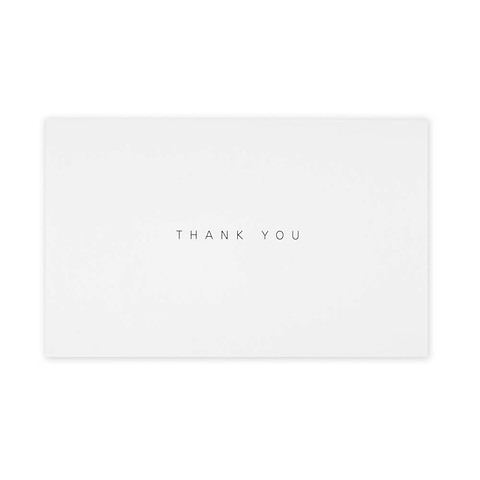 Grußkarte 'Thank you' Invitation Set BlancBlanc Mini