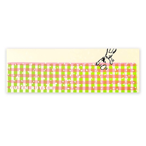 Grußkarte Ostern Schneehase Guten Rutsch extra lang