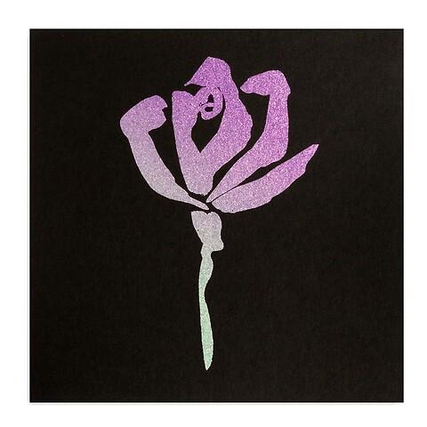Grußkarte Rose Noir quadratisch