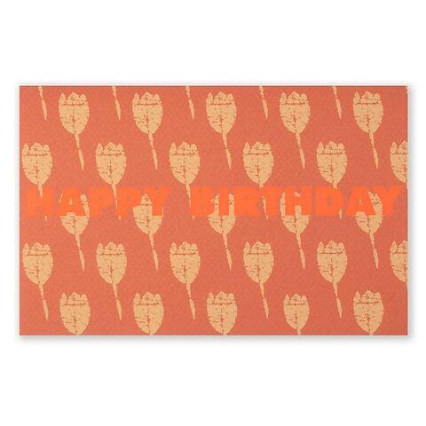 Grußkarte Geburtstag Tulpenfeld orange Happy Birthday Diplo