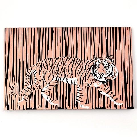 Grußkarte Dschungel-Tiger kupfer Diplomat