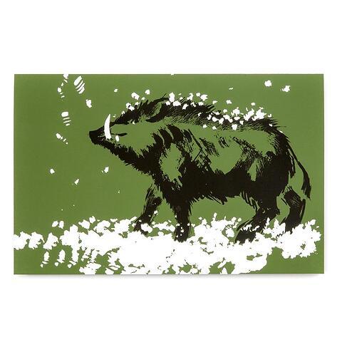 Grußkarte Wildschwein Diplomat