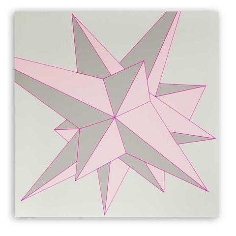 Grußkarte Stern Polygon quadratisch
