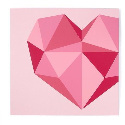 Grußkarte Herz Polygon quadratisch