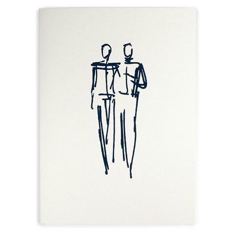 Grußkarte Hochzeit Mariage Male Couple  A5