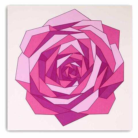 Grußkarte Rose Polygon Pure sand quadratisch
