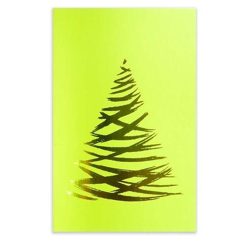 Weihnachtskarte Lichterbaum Pure Samt grün Diplomat