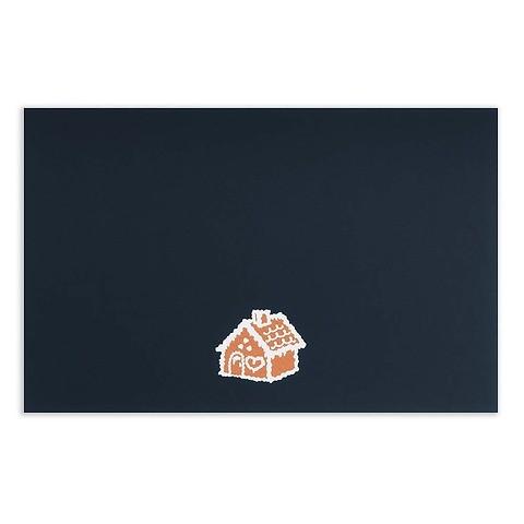 Weihnachtskarte Knusperhaus Diplomat Pure nachtblau