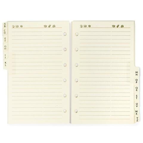 Refill PO Pocket Planer A-Z Adressregister