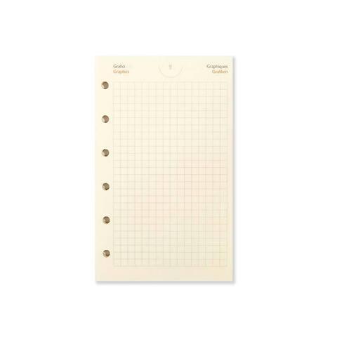 Standardfüllung Pocket Planer  Refill Karopapier cream