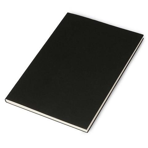 Refill Notizbuch A4 kariert schwarz, 96 Blatt
