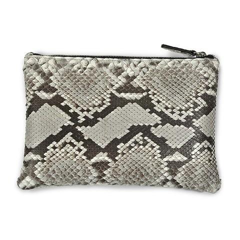 Zip Wallet Python; 24x16 cm, schwarz-weiß