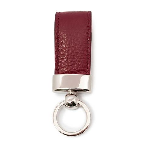 Schlüsselanhänger Leder Adri dunkelrot