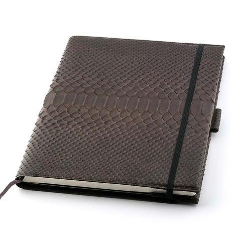 Undercover Python Leder A4 für Moleskine Notizbücher braun