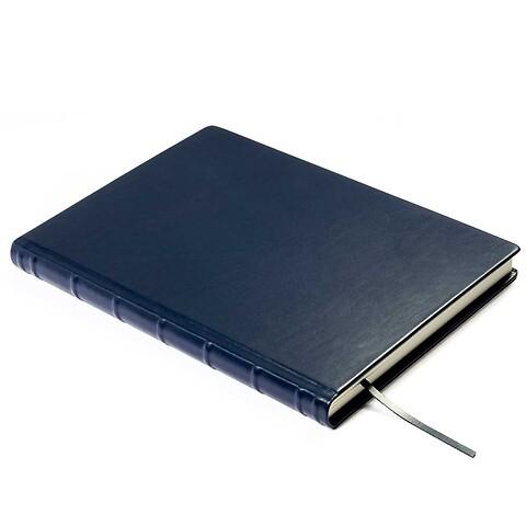 Gästebuch A4 Leder 144 Blatt, 29.7x21 cm blau
